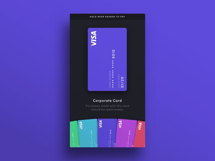 Dribbble - 004 — Credit Cards by W