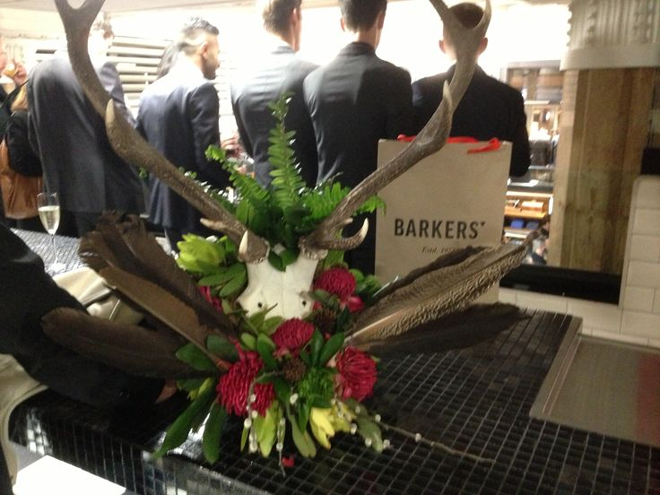 Floral installation for the opening of the Barkers Groom room by Florentina