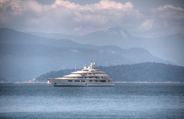 Superyacht in English Bay