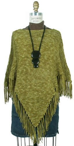 Knitted Poncho Patterns   ... Pattern Book » The Prettiest Spring Ponchos to Knit – free patterns