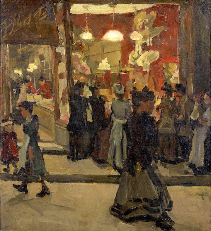 Hoedenwinkel van Mars op de Nieuwendijk te Amsterdam (1893), Isaac Israëls.  Groninger Museum | Dutch artists, Art, Dutch painters