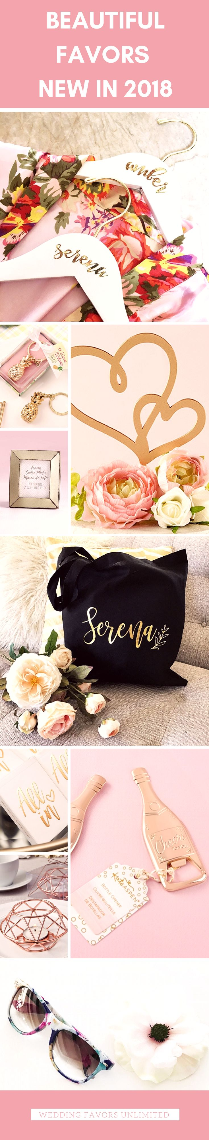 Browse beautiful wedding favors, gifts and keepsakes NEW in 2018 at Wedding Favo…