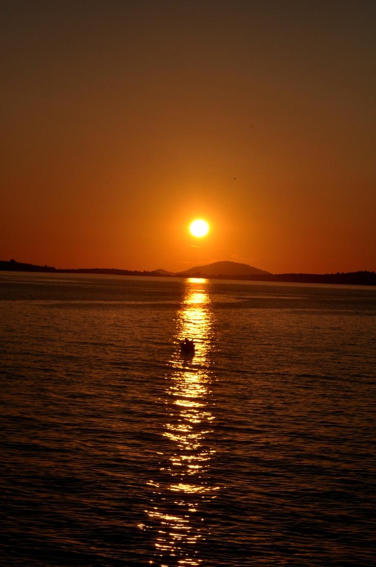 sunset Tristinika beach - Toroni Chalkidiki Greece <3