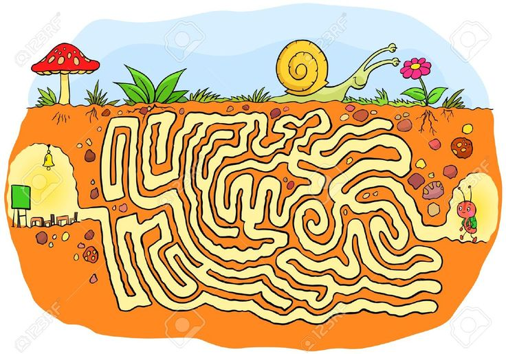 Ant Going To School Maze Game Royalty Free Cliparts, Vectors, And Stock Illustration. Image 16012894.
