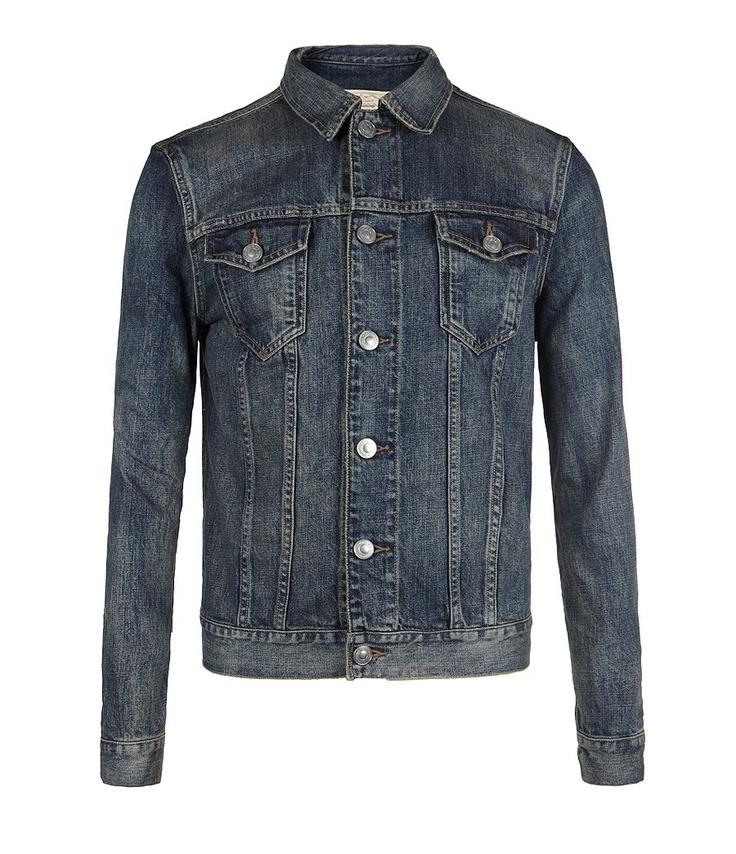 Fremont Denim Jacket, Men, Coats, AllSaints Spitalfields