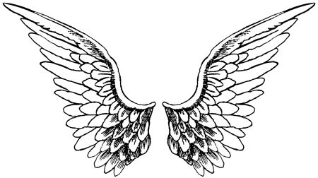 Angel Wings pattern | Templates and Free Printables | Pinterest