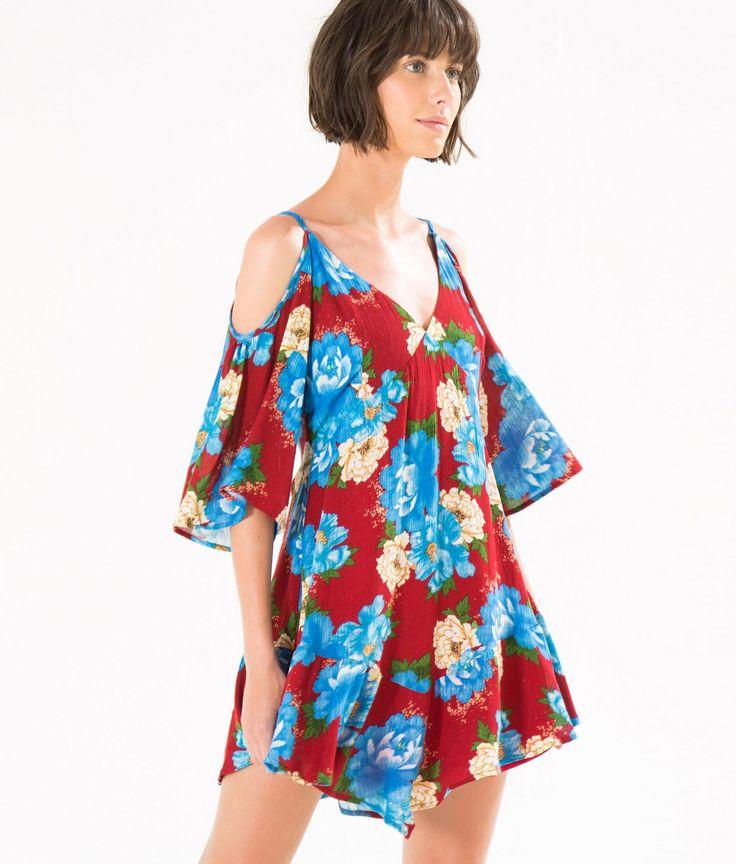 vestido curto chita oriental mini
