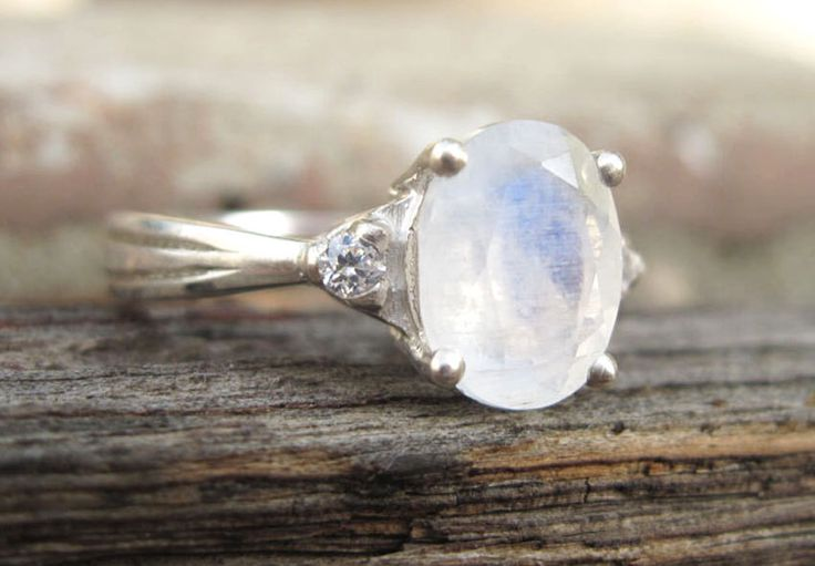 Moonstone Antique Engagement Ring, Antique Moonstone Ring, Vintage Moonstone Ring, Vintage Oval Engagement Ring, Antique Style, Promise Ring by Benati on Etsy https://www.etsy.com/listing/259696353/moonstone-antique-engagement-ring