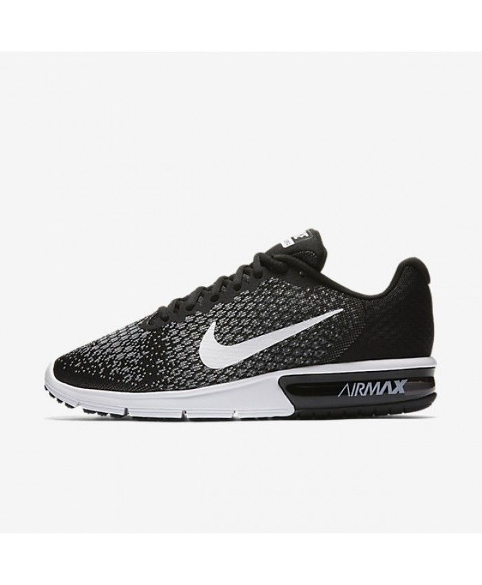 Nike Air Max Sequent 2 Black Dark Grey Wolf Grey White 852461-005