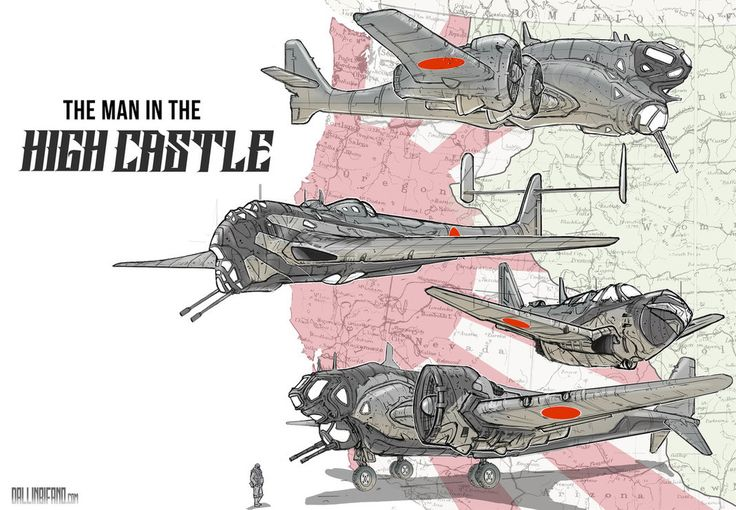 ArtStation - Man in the High Castle Japanese Planes, Dallin Bifano