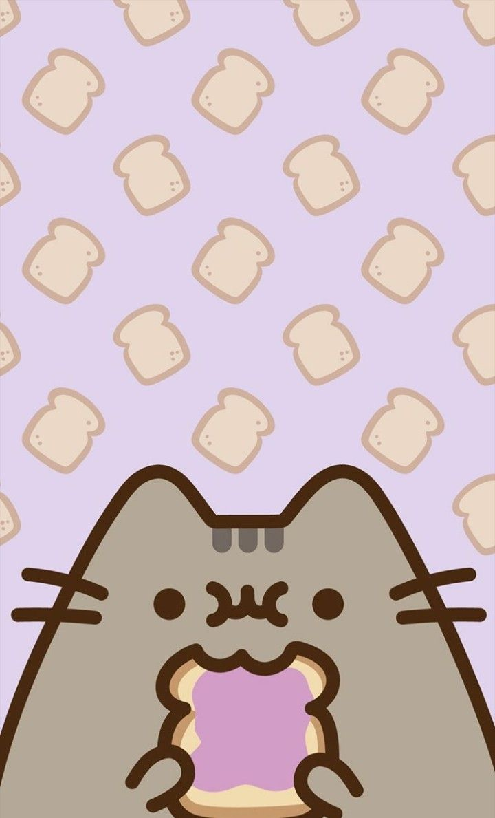 Toast Pusheen Pusheen Cute Pusheen Cat Kawaii Wallpaper