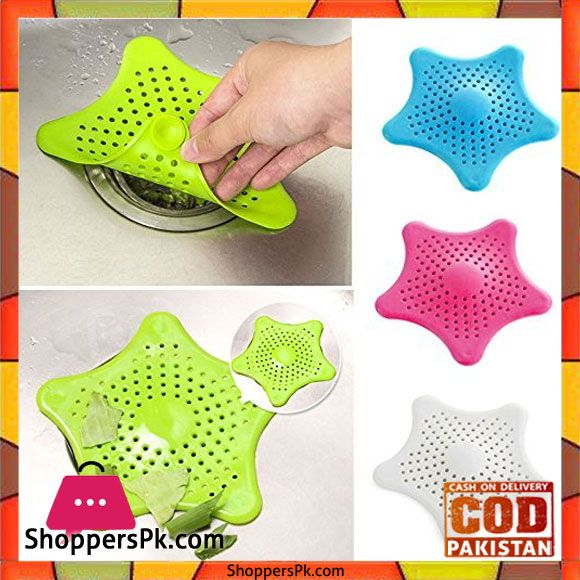 Buy Starfish Hair Catcher No Slip Suction Cups Drain Cover 1 Pcs At Best Price In Pakistan Shower Drain Shower Drain Covers Sink Strainer