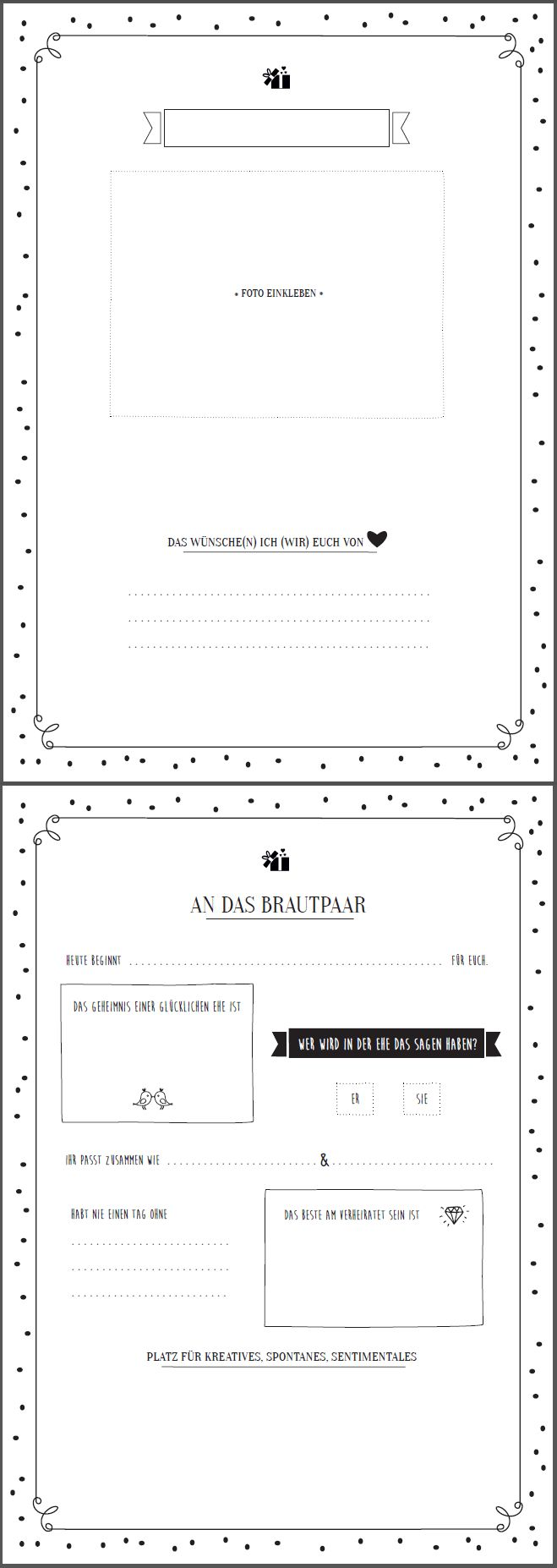 Great guestbook template to fill in – free download