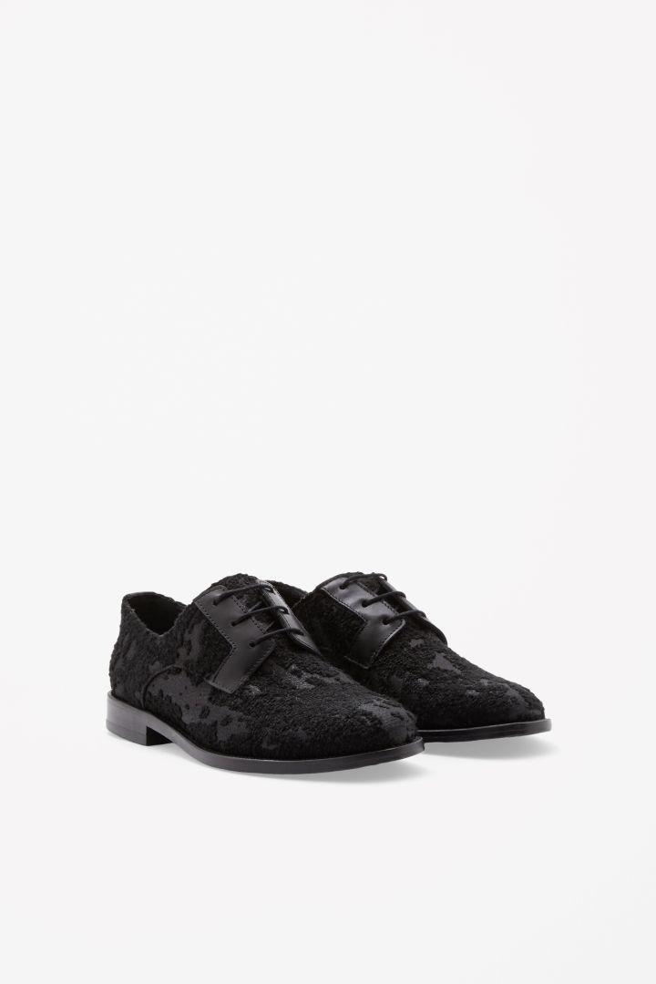Jacquard lace-up shoes COS