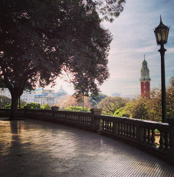 Buenos Aires , Argentina. Plaza San Martin, se observa la Torre de Los Ingleses , en Retiro . . .