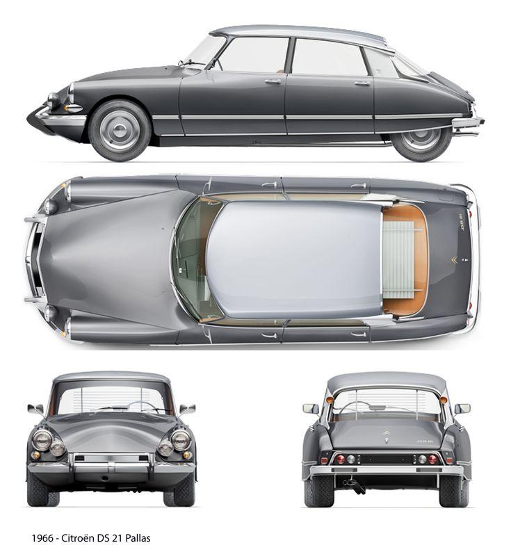 Citroën DS 21 Pallas (1966) | SMCars.Net - Car Blueprints Forum