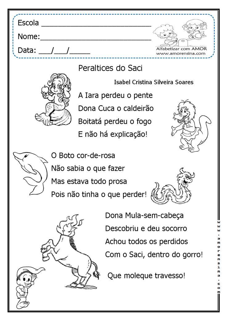 Alfabetizar com AMOR: FOLCLORE- ATIVIDADES INTERDISCIPLINARES - DOIS TIPOS DE LETRAS- 1º E 2º ANO