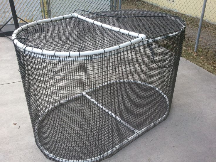 Oval Bait Pen 3 X3 X5 1 X 1 2 Quot Heavy Duty Pvc Coated Wire Mesh Extra Large Lid For Easy Bait