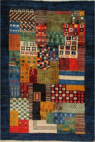 Multi Affordable Gabbeh Wool Rug GB-14 $191.00