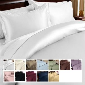 Twin XL Sheets Egyptian Cotton Sateen Solid 600 Thread Count | FREE SHIPPING