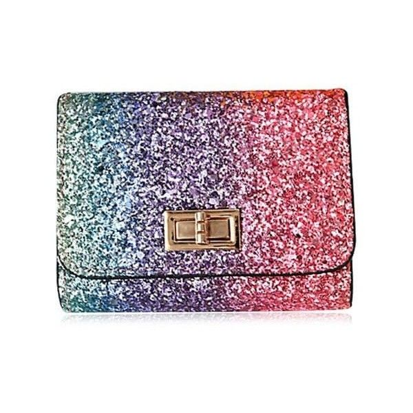 Rose Red Multicolor Metal Sequins Small Wallet (€6,14) ❤ liked on Polyvore featuring bags, wallets, colorful wallets, colorful bags, multi coloured bags, metal wallet and red wallet