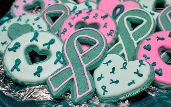 How to Make Cancer Awareness Ribbon Sprinkles
