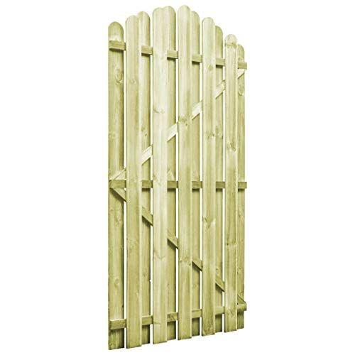 Vidaxl Portail De Jardin Bois Pin Impregne Fsc Design Arche Portillon Cloture Portail Jardin Bois Jardins