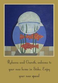 Yoodoo Goldfish Bowl Card name: Goldfish Bowl, Occasion: New Home, Style: Art, Artist: Stephen Dumayne, Card finish: http://www.comparestoreprices.co.uk/greeting-cards--general/yoodoo-goldfish-bowl.asp