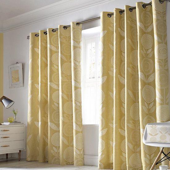 Dunelm Curtains Yellow