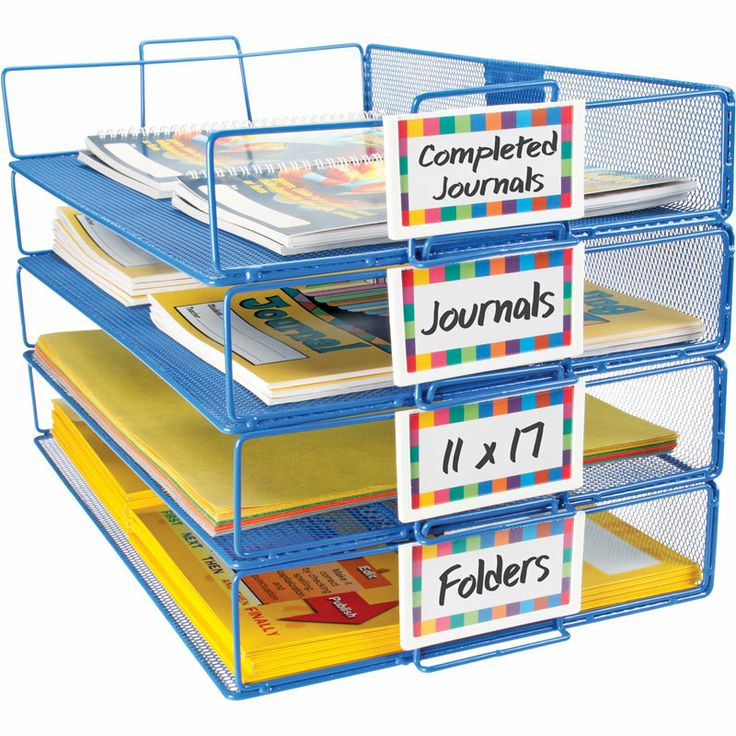 Stackable Paper Racks With Label Holders; Each Rack Can Hold Papers,  Folders, And