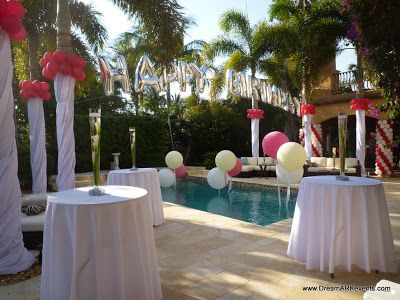 Elegant Pool Party Baby Shower Backyard Pool