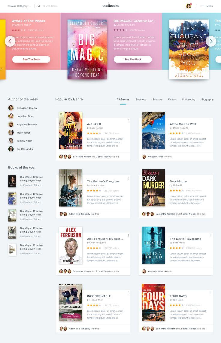 Book Store Website – User interface by Dwinawan Hariwijaya