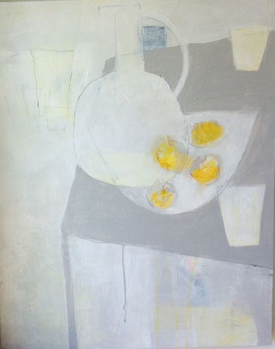 pouke halpern - lemons on gray table