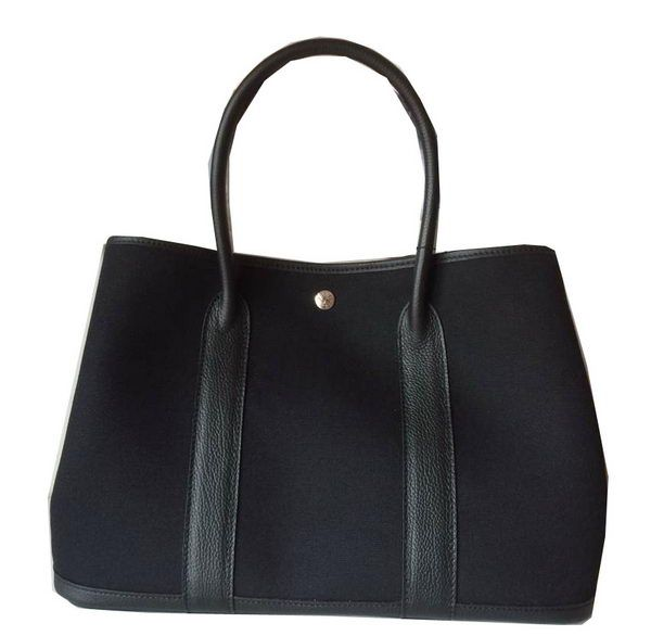 Hermes Garden Party 36CM Bag Canvas Leather H11M Black - $249.00