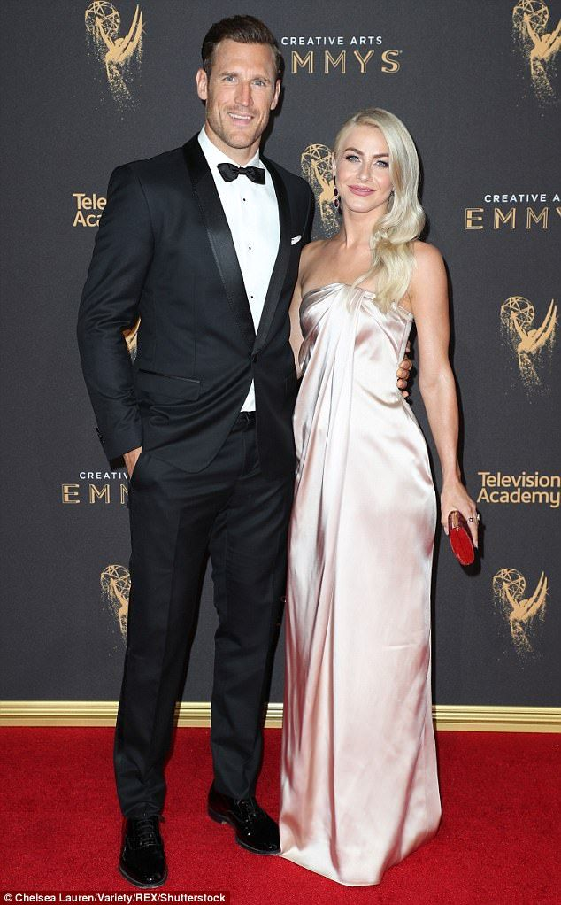 Newlyweds: Brooks Laich and Julianne Hough still had their honeymoon glow as they posed for photographers on the red carpet
