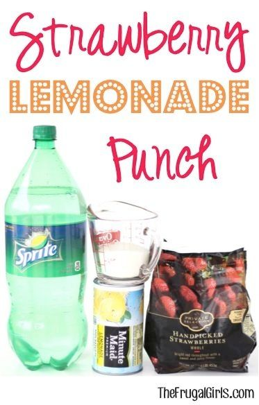 Strawberry Lemonade Punch Recipe! ~ from TheFrugalGirls.com ~ this easy punch is beyond delicious and perfect for any party, holiday, baby shower, bridal shower, or wedding! Go grab the strawberries! #punches #recipes #thefrugalgirls by barbara.stone