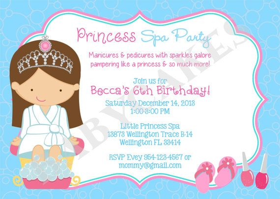 27 best images about Spa Party – Little Girl Spa Party Invitations