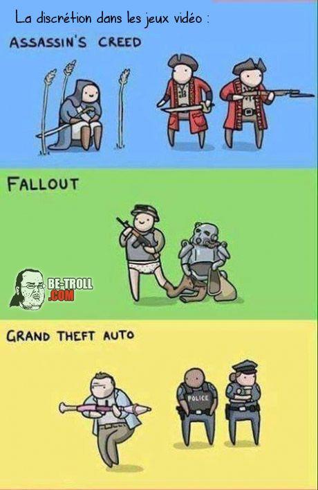 La discrétion dans les jeux vidéo... - Be-troll - vidéos humour, actualité insolite