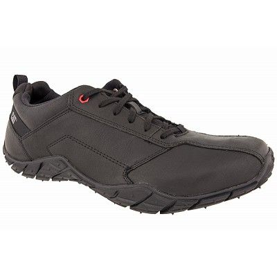 Ανδρικά παπούτσια CATERPILLAR σε μαύρο χρώμα δερμάτινα με στιβαρή αντιολισθητική σόλα και εξαιρετική αίσθηση άνεσης