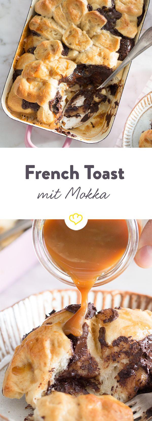 Ob French Toast oder Arme Ritter - der Name ist bei diesem ofenwarmen Leckerbissen mit Schokolade und einem Schuss Mokka eh nur Nebensache.