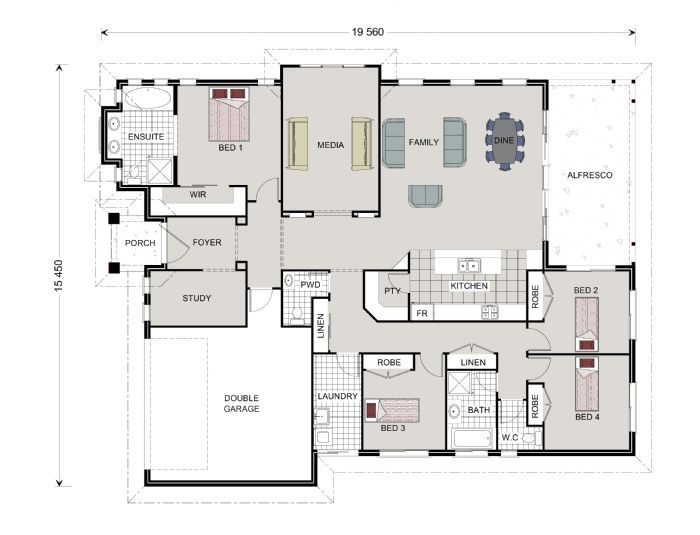 House Plans on one story floor plans
