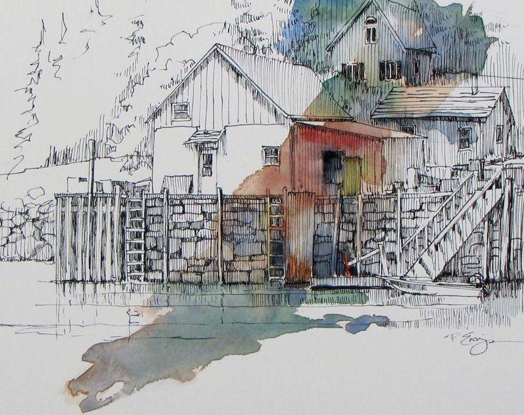 Artwork Pop-up - In Stonington Harbor