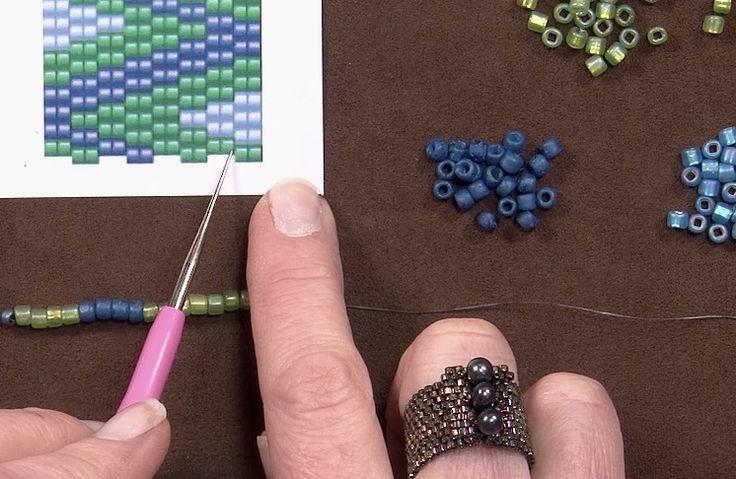 How to read a two-drop peyote pattern | BeadandButton.com