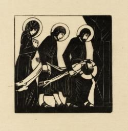 Eric Gill - Station 14 - The Body of Jesus is Laid in the Tomb, 1917