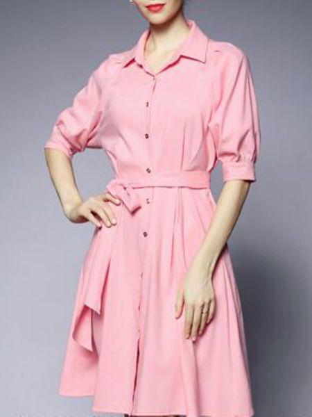 Paneled Knee Length Dress