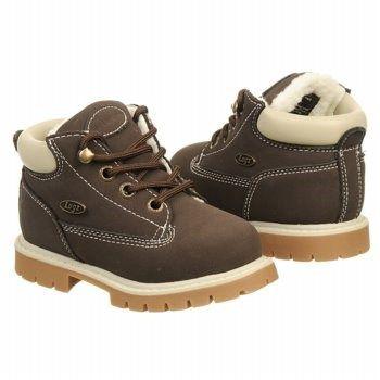 Lugz Drifter Fleece Lace Up Boot Toddler Chocolate/Cream/Gum