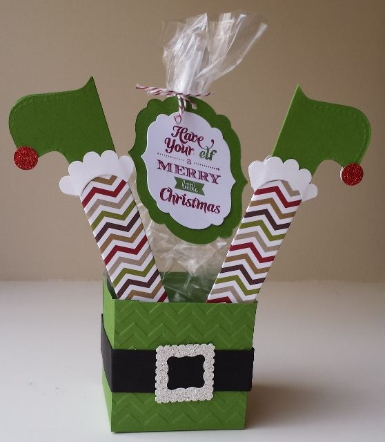 Have your Elf a Merry Little Christmas DIY treatbox from papermadeprettier and Stampin' Up. FREE tutorial on my blog: www.papermadepret...