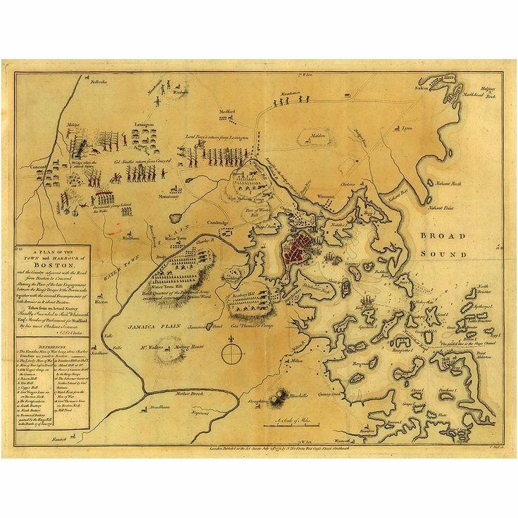 Boston, 1775, Battle Of Lexington & Concord, Siege
