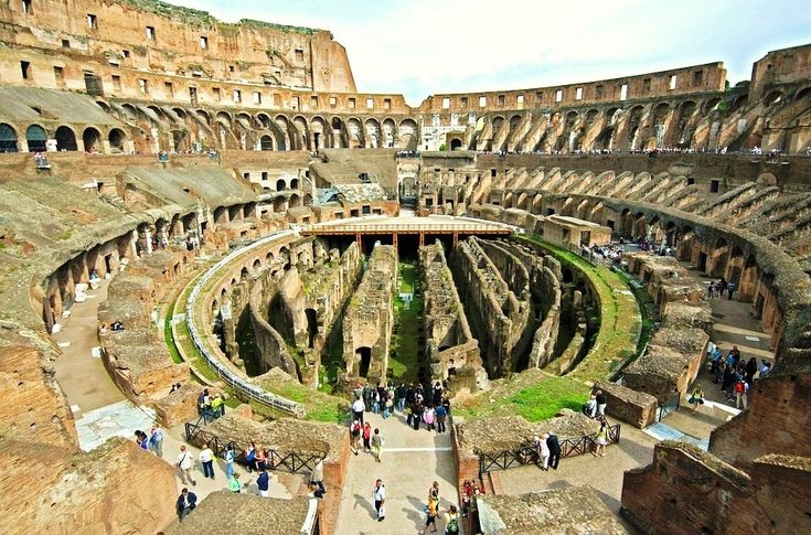 Colosseum.  The Colosseum was a place for various forms of entertainment to Roman citizens such as gladiator fights and wild animal fights. (http://www.history.com/topics/ancient-history/colosseum)
