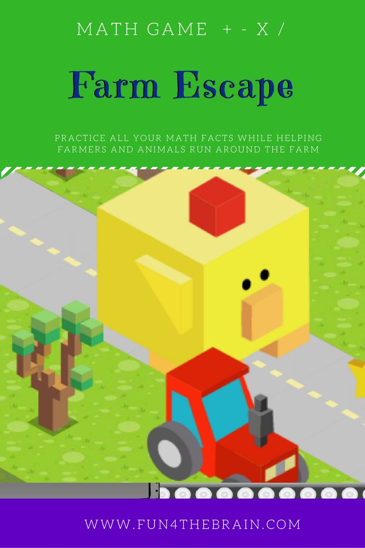 Multiplication Games - Farm Escape! - Fun4theBrain Math Games